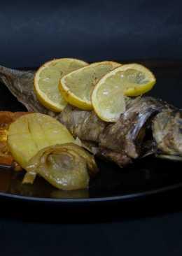 Pescado al limón al horno