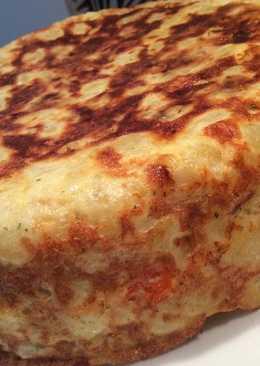Tortillón de york, queso y pimiento morrón GM F