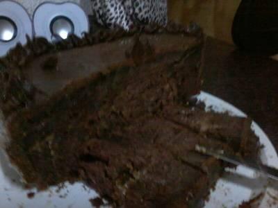 Torta de chocolate cacao dulce