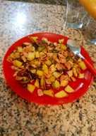 Friturita de verduras con carne