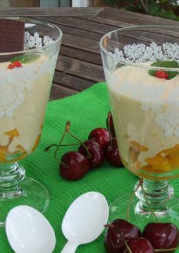 Copas de mango con chocolate aptos para dieta