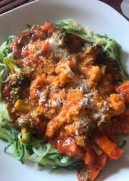 Espaguetis de calabacín con sobras