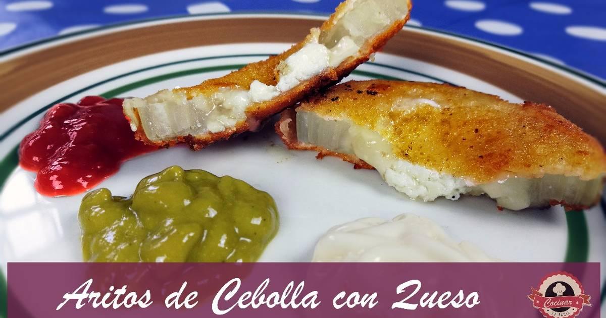 Aros de cebolla con queso aperitivos de navidad f ciles - Que cocinar en navidad facil ...
