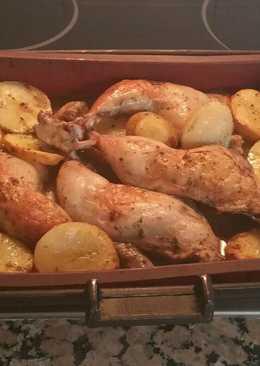 Pollo al horno con maceracion a mi manera