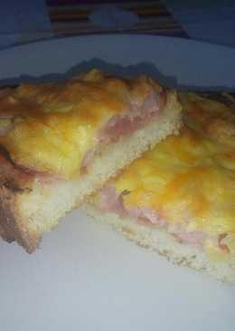 Pan pizza extracrujiente (York con 4 quesos)
