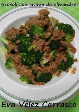 Brócoli con crema de almendra