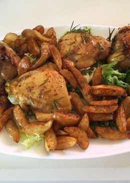 Pollo con miel y romero