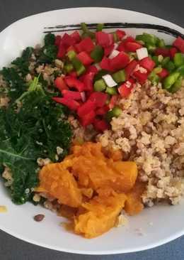 Lentejas con Espelta, Quinoa, Kale, Nabo y Pimientos