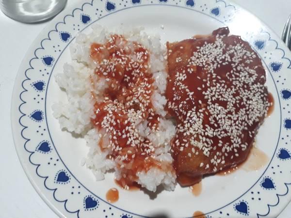 Suprema de Pollo con Salsa Dulce