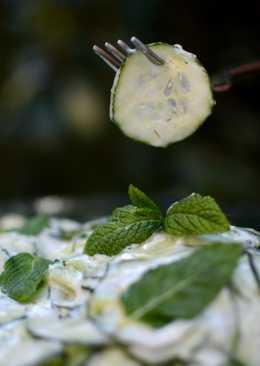 Ensalada de pepinos y yogur