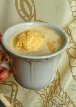 Café con leche y helado de vainilla ☕🍨 (Especial domingo!) 🏡