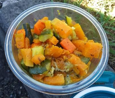 Ensalada de verduras estofadas