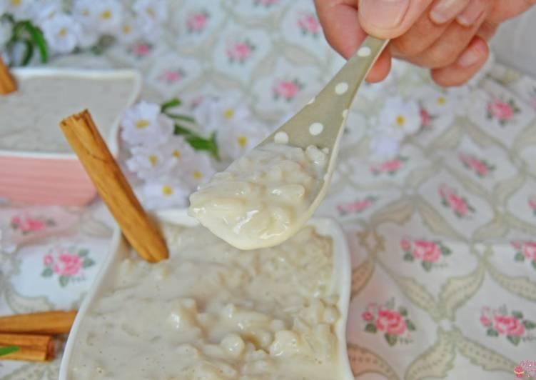 Arroz dulce con horchata (sin gluten, sin azúcar y sin lactosa)