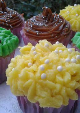 Muffins de vainillas decorados