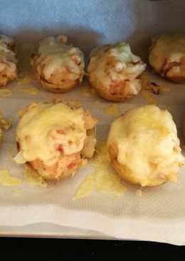 Patatas al horno rellenas de beicon