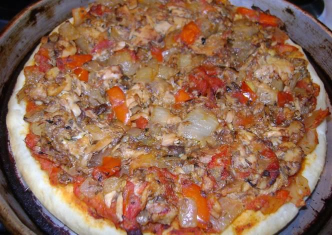 Pizza sin queso para viernes santo de at n y morrones for Cocinar jurel