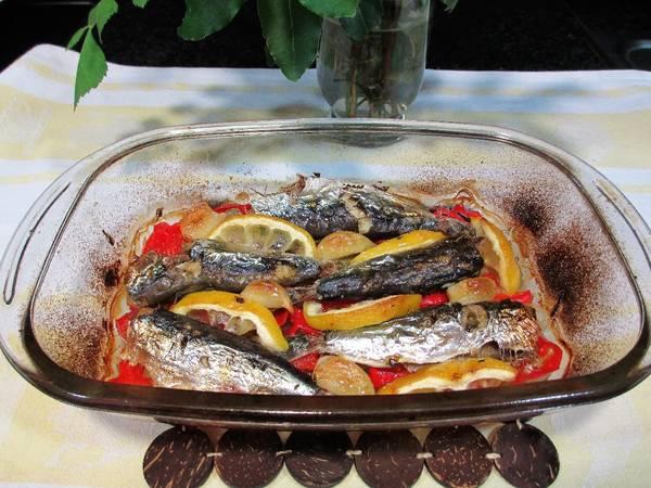 Sardinas al horno con limón en su jugo