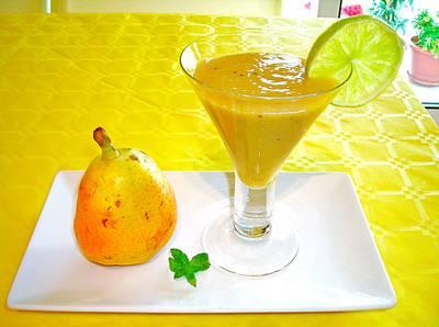 Néctar de pera con lima