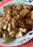 Tofu encebollado a la cerveza tostada🌱vegano