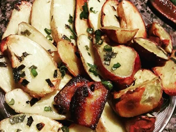 Papas y batatas al horno