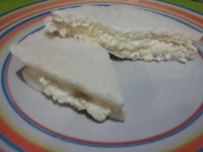 Sándwich ensalada de huevo con thermomix