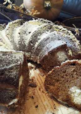Bundt cake de calabaza, café y crema de queso
