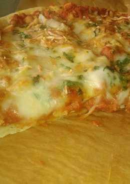 Pizza de pollo tikka
