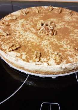 Tarta de crema pastelera y queso