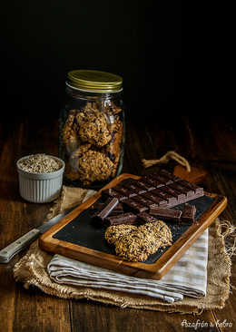 Galletas de avena y chocolate