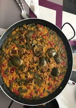 Paella de costillas y verduras (para 4 personas)