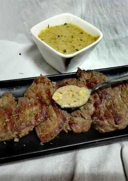 Solomillo con salsa de mostaza sin lactosa y fit