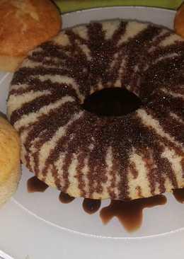 Bizcochuelo de plátano con coco y chispas de chocolate