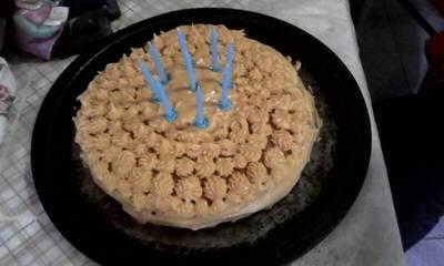 Torta de mantequilla de maní de dulce de leche