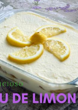 Tiramisú de limón sin huevo