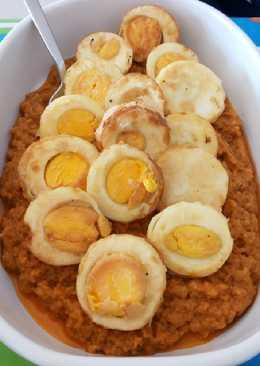 Huevos con almendras