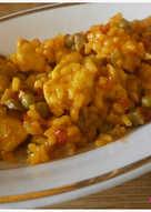 Arroz meloso con verduras, champiñones y pollo