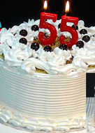 Tarta de mi 55 cumpleaños