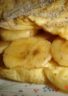 Tortilla dulce con plátano