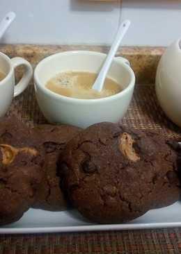 Cookies rellenas de crema de cacahuete