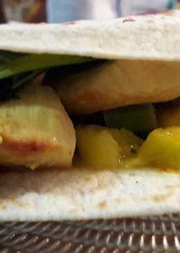 Tacos de pollo y Kale con salsa de mango 🌮