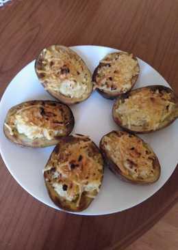 Patatas asadas con queso de cabra