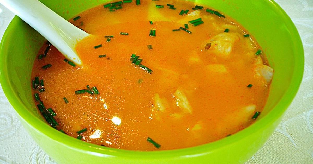 Consom de pescado con tomates y arroz integral receta de for Cuchara para consome