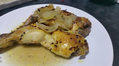 ¡¡Muslos de pollo cítricos en un solo paso!!