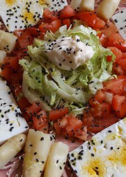 Plato ovolacto vegetariano para dieta