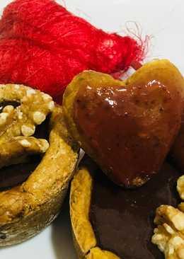 Tartaletas con mousse de chocolate #san Valentin (con harina de arroz)