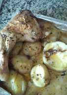 Muslos al horno con patatas