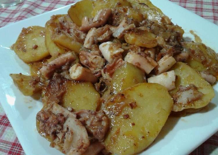 Pulpo con patatas al horno receta de la cocina roja de for Pulpo en olla express