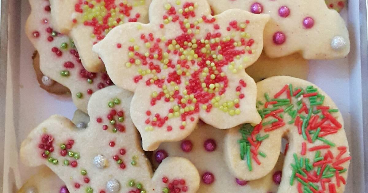 galletas de navidad de mantequilla muy sencillas y ricas