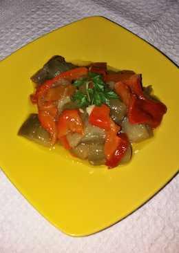 Ensalada de pimientos asados y berenjenas