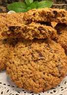 Cookies de avena integral y chocolate, sin gluten, sin lactosa
